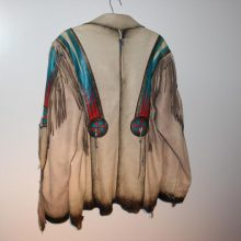 New Handmade Wilderness Wayne Fringe Leather Men's Jacket
