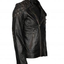 New Handmade Men's Motorbiker Ride New Fashion Skull Rider Distressed Leather Jacket