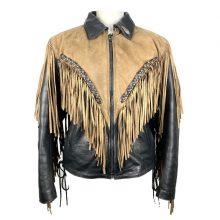 Handmade Motorcycle Vintage Clothing Zip Up Leather Western Wear Fringed Jacket