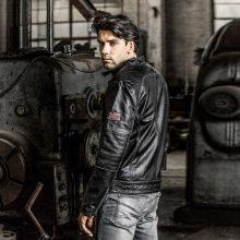 New Handmade Men's Vintage Slim Fit Cowskin Motorcycle Biker Leather Jacket