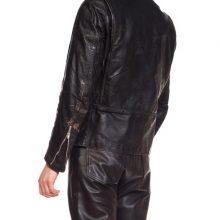 New Handmade Men's Black Brooks Leather BMW Biker Jacket