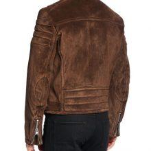 New Handmade Men's Icon Brown Stylish Suede Biker Jacket