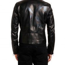 New Handmade Men's Arrow Off-White Biker Leather Jacket