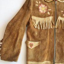 New Handmade Men's KILLER Embroidered Applique Fringe Suede Western Jacket