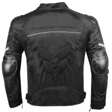 New Handmade Men's AirTrek Mesh Motorcycle Touring Waterproof Rain Armor Black Biker Jacket