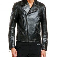 New Handmade Men's Arrow Vintage Leather Black Biker Jacket