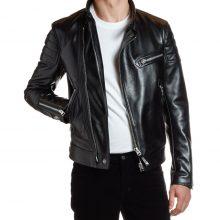 New Handmade Men's Moto Black Biker Leather Jacket