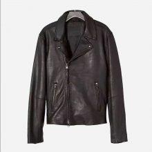 New Handmade Mens Classic Black Leather Biker Jacket
