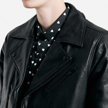 New Handmade Mens Vanity Black Leather Biker Jacket