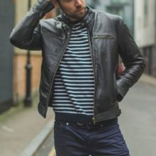 New Handmade Men's Premium Soft Black Leather Biker Motorcycle Jacket