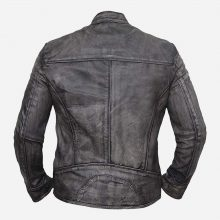 New Handmade Mens Vintage Biker Cafe Racer Retro Distressed Leather Jacket