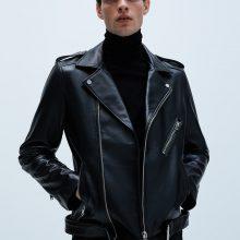 New Handmade Men Black Classic Biker Motorcycle Leather Jacket