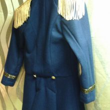 New Handmade Men's Hamilton Lafayette Pure Navy Wool, Fully Lined, Gold Metallic Buttons, Fringed Epauletes and Gold Ribbons Jacket