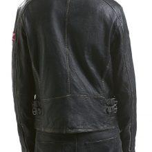 New Handmade Mens Classic Bike Racer Distressed Black Leather Jacket