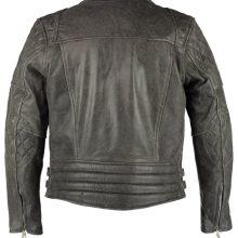 New Handmade Men's Classic Diamond Vintage Grey Biker Leather Jacket