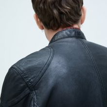New Handmade Men Black Classic Biker Leather Jacket