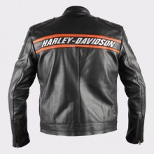 New Handmade Mens Harley Davidson Classic Motorcycle Leather Jacket