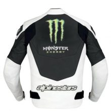 New Handmade Mens Monster Energy Leather Jacket
