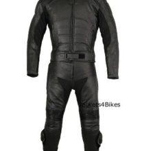 Men's 2PC Motorcycle Leather Riding Black Armor Suit 2 PC Two Piece US
