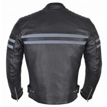 New Handmade Men Classic Leather Motorcycle Jacket with Coronavirus Safety Mask