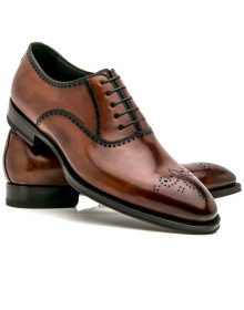 Elegantly Design Handmade Brown leather shoes, Men's Lace Up shoes, Men's Brogue Formal Stylish shoes