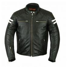 New Handmade Retro Mens Leather Racer Jackets