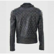 New Handmade Men Rock Punk Studded Jacket, Moto Biker Jacket