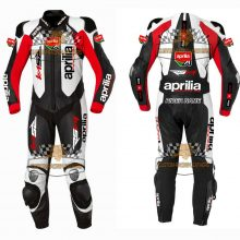 Aprillia Motorcycle Racing suit MotoGP Leather Riding Suit-Motorbike