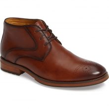 Handmade Men's Brown charming chukka boot features sleek full-grain leather and a cushioned footbed
