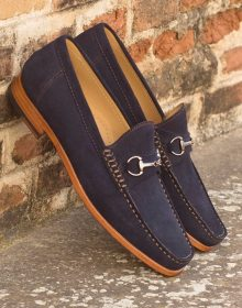Elegant Metal Bit Moccasin - Handcrafted, Hand-stitched loafers for men