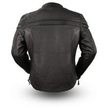 New Handmade Mens Classic Leather Motorcycle Riding Jacket
