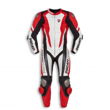 """""""DUCATI"""" Corse Motorcycle Red Motorbike Racing One Two Piece Leather SUIT Armour"""