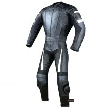 New Men's 2PC Motorcycle Riding Racing Leather 2 PC Suit w/ Padding & Hump