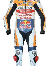 Unique Racing Honda Respsol Red Bull Motorbike Leather one Piece Suit CE Armors