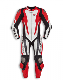 """DUCATI"" Corse Motorcycle Red Motorbike Racing One Two Piece Leather SUIT Armour"