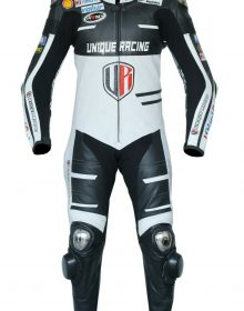 Unique Racing Ducati Motorcycle Motorbike Leather one Piece Suit CE Armors