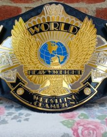 WWF Winged Eagle Championship Belt Replica Dual Plated Adult Size