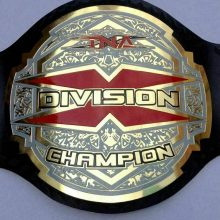 TNA X Division Wrestling Championship Belt Leather Replica Belt Adult Size