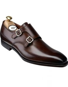 Handmade Men Dark Brown Shoes, Double Monk Strap Shoes, Men Formal Monk Shoes