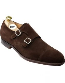 Handmade Men Brown Shoes, Double Monk Strap Shoes, Men Formal Monk Shoes