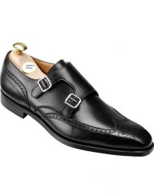 New Handmade Men Black formal shoes,Men monk dress shoes Men leather shoes