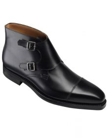 New Handmade Men Black formal shoes,Men double monk dress shoes Men leather shoe