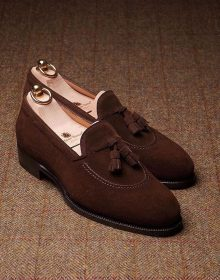 Handmade Men Brown suede tassel loafers?, men summer shoes