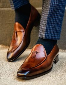 Handmade Men The Van Damme Belgian loafer in brown