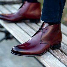 The Newman chukka boot in oxblood