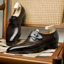 New Hand Stitched Cowhide Leather Goodyear welted Monk shoes for men