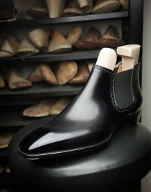 New Handmade Cowhide Genuine Leather Chelsea Boots for men