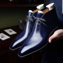 New Handmade Cowhide Leather Chukka Boots for men