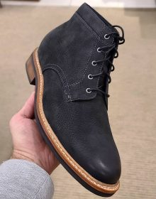 Hand-stitched Cowhide rough leather brown boots for men