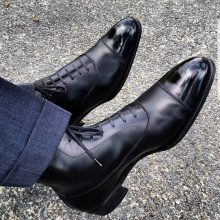 Handmade Men Wingtip Cap Toe Boots Leather Boot, men ankle shoes